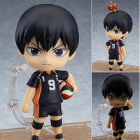 "Japanese Anime Doll Cute Nendoroid Haikyuu Kageyama Tobio #489 PVC Action Figure Model Toy 4"" 10cm"