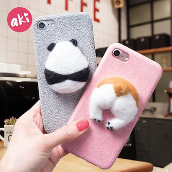 Corgi and Panda Phone Case for iPhones