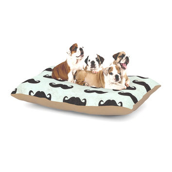 "Heidi Jennings ""Staching"" Black Blue Dog Bed"