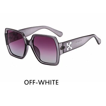 OFF-WHITE Tide brand personality pattern large frame men and women polarized sunglasses C4