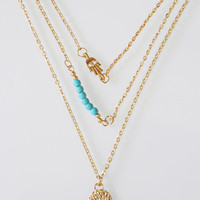 Hamsa Layer Necklace