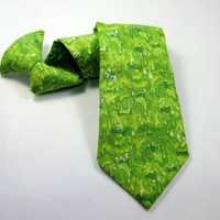 kids tie, kids monster tie, Slime monster boys neck tie children clip on, boys tie,