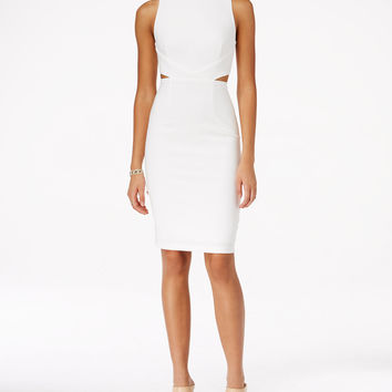 City Studios Juniors' Cutout Seamed Bodycon Dress