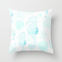 Into the Sea  Throw Pillow by Sunkissed Laughter
