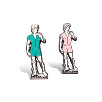 David in a Romper Enamel Pin