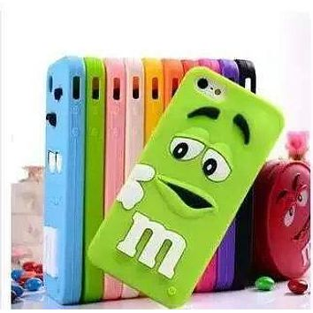 "3D Cartoon Rubber M&M Fragrance Chocolate Case Silicon M Rainbow Beans Cover For iPhone 4 4S SE 5 5S 5C 6 6S 7 8 4.7"" Plus 5.5"""