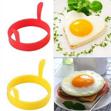 DCCKU7Q 4Pcs Silicone Round Egg Rings Pancake Mold Ring Handles Nonstick Fried Frying