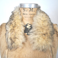 Cream Fur Collar / Sheep Shearling / Boho