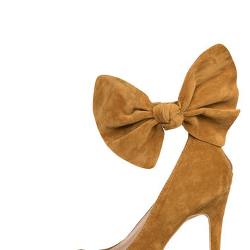 Jeannie Bow Heel (Chestnut)