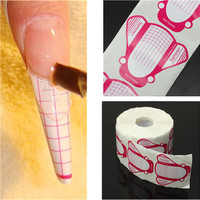 500Pcs/roll Professional Nail Form Sticker UV Gel Nail Art Tip Extension Guide Tools for Salon Nails Care Transparent
