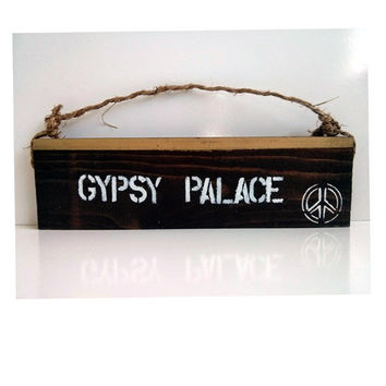 Gypsy Palace sign / beautiful/ anthropologie/ urban outfitters/ brandy melville/ lotus flower / wall hanging / decor