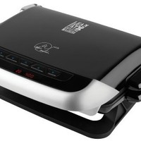 George Foreman GRP4EMB Black Evolve Grill with 2 Grill Plates, 1 Deep-Dish Bake Pan and 1 Cupcake and Muffin Pan Insert, Black