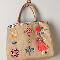Sun Island Embroidered Tote