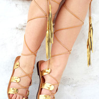 "Greek Goddess Sandals, gold lace up Sandals, Anciens Greek Sandal, Geniun leather shoes, ""Athina"" Summer shoes Valentine's gift for women"