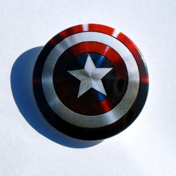 Captain America Avenger's Shield Pinback Button Badge or Magnet