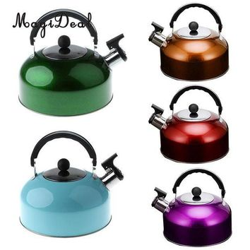 CREY3F MagiDeal Anti-Hot/Slip Whistling Tea Kettle Gas Stove 3L Stainless Steel Tea Kettle Water Bottle for Home Camping Hiking Travel