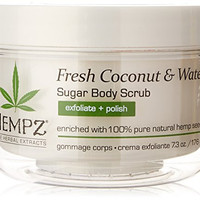 Hempz Herbal Sugar Body Scrub, Pearl White, Fresh Coconut/Watermelon, 7.3 Fluid Ounce