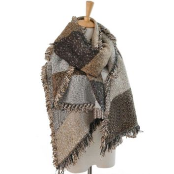 Women's Winter Thick Warm Wool Pashmina Cashmere Stole Scarves Scarf Shawl Wraps