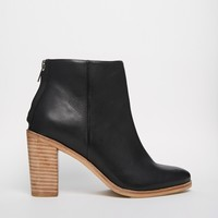 ASOS EDUCATION Leather Ankle Boots