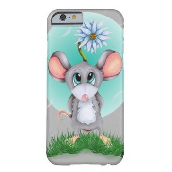 Mouse with flower custom iphone case barely there iPhone 6 case