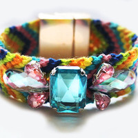 Luxury Cuff Rainbow Crystal Friendship Bracelet