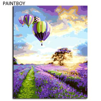PAINTBOY Framed Landscape DIY Painting By Numbers Painting Wall Pictures Digital Canvas Oil Painting Home Decoration G043