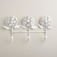Whitewash 3-Prong Hydrangea Hook - World Market