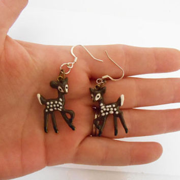 Once Upon A time Fairytale Bambi Deer Dangle Drop earrings