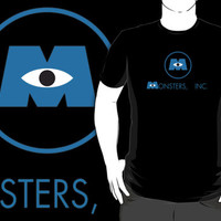 #sc Monster Inc logo black shirt