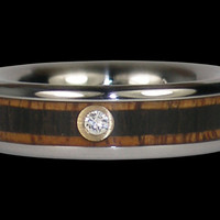 Thin Diamond Titanium Ring – Hawaii Titanium Rings