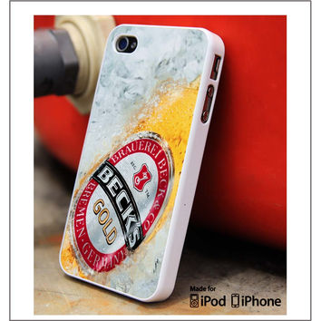 Becks Gold Beer iPhone 4s iPhone 5 iPhone 5s iPhone 6 case, Galaxy S3 Galaxy S4 Galaxy S5 Note 3 Note 4 case, iPod 4 5 Case