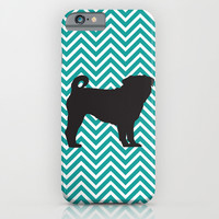 Chevron Pug iPhone & iPod Case by Michelle O'Hollaren