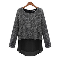 Long Sleeve Overlay Sweater Top