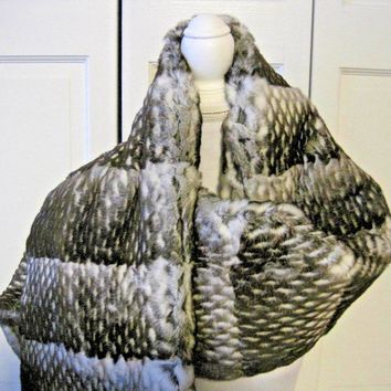 CHANEL ORYLAG FUR & CASHMERE THROW STOLE BLANKET purchased for $7,800