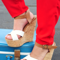 RESTOCK: Tearing Up My Heart Wedges: White/Tan