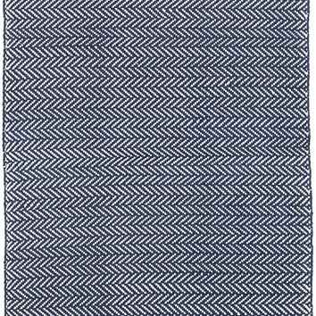 C3 Herringbone Indigo Indoor/Outdoor Rug | Dash & Albert
