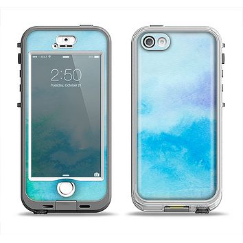 The Subtle Green & Blue Watercolor V2 Apple iPhone 5-5s LifeProof Nuud Case Skin Set