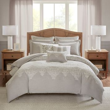 Barely There Natural Color 8 Piece Comforter Set | Madison Park Signature