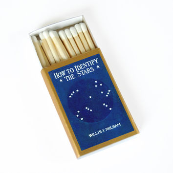 How to Identify the Stars Matchbox - Camping Gift - Survival Gear - Father's Day - Astronomy Gift - Stargazing - Light a Stellar Spark