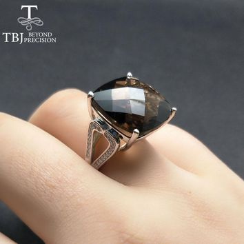 TBJ, Big natural gemstone ring for lady in party,femail big gemstone ring in 925 sterling silver fine jewelry with gift box