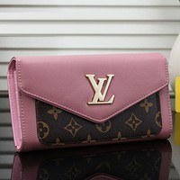 Louis Vuitton LV Women Shopping Fashion Leather Buckle Wallet Purse