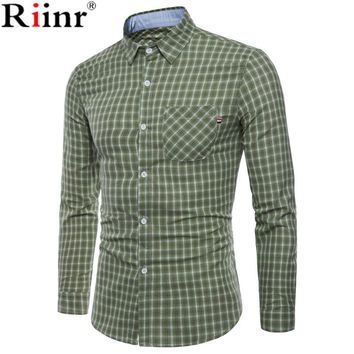 New Arrival Men's Oxford Wash and Wear Plaid Shirts Cotton Casual Shirts High Quality Fashion Design Men's Dress Shirts