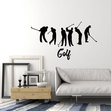 Vinyl Wall Decal Golf Club Logo Game Player Stickers (3285ig)