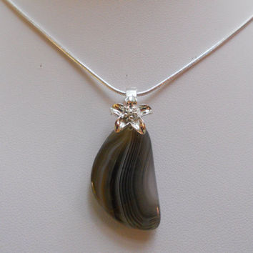 Petite Botswana Agate by elainesgems on Etsy