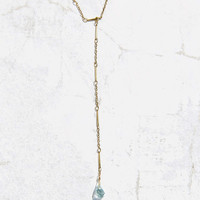 Delicate Crystal Lariat Necklace - Urban Outfitters