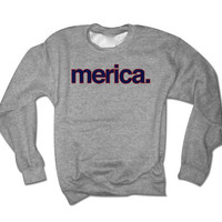 Merica Fourth of July Sweatshirt | 4th of July Shirts | Fourth of July Tank Tops | Womens 4th of July Clothing Merica Jumper Crew
