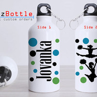 Cheerleading Twince - Bottle Sport - Custom Water Bottle -  Club Bottle Sport - Include Name