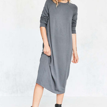 Silence + Noise Mason Midi Sweatshirt Dress - Urban Outfitters