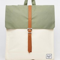 Herschel Supply Co | Herschel Supply Co City Backpack in Khaki Color Block at ASOS