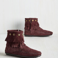 Boho Your Very Best Fringe Bootie in Raisin